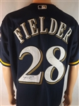 PRINCE FIELDER SIGNED BREWERS JERSEY