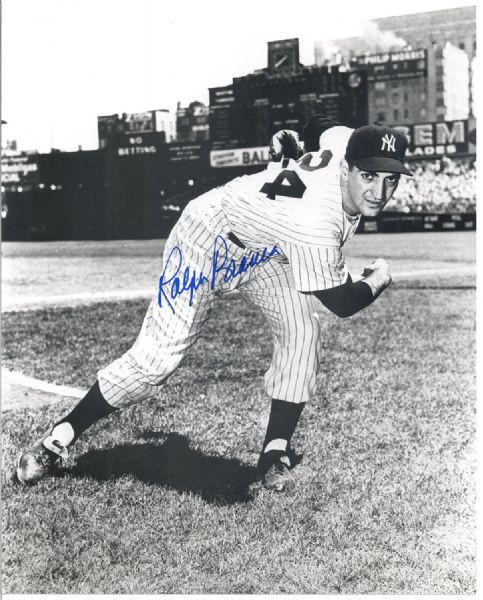 RALPH BRANCA SIGNED 8X10 PHOTO NEW YORK YANKEES