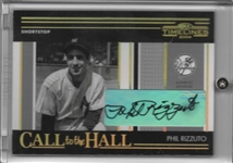 2004 DONRUSS TIMELINES GOLD CALL TO THE HALL SIGNED PHIL RIZZUTO CH-18 8/25!!