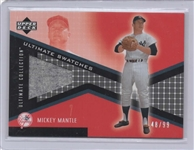 2002 UPPER DECK ULTIMATE SWATCHES MICKEY MANTLE GAME WORN 48/99