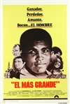 "1977 MUHAMMAD ALI THE GREATEST ""EL MAS GRANDE"" 27"" x 41"" SPANISH LANGUAGE MOVIE POSTER"