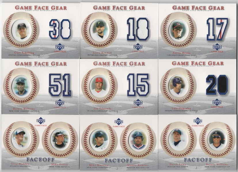 2002 2003 UPPER DECK SWEET SPOT GAME FACES GEAR & FACE OFF LOT OF 18