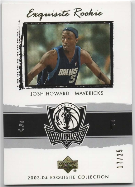 2003-04 UD EXQUISITE COLLECTION ROOKIE #53 JOSH HOWARD 17/25