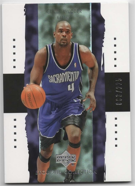 2003-04 UD EXQUISITE COLLECTION #34 CHRIS WEBBER 063/225