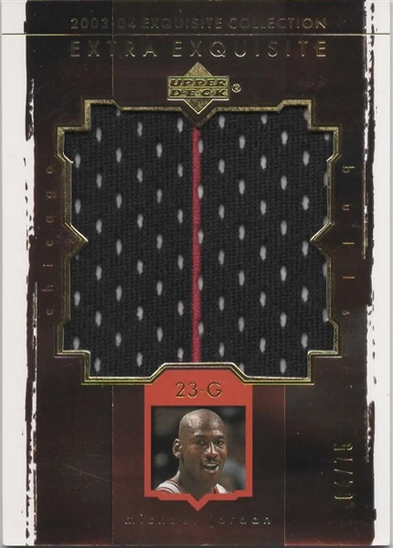 2003-04 UD EXTRA EXQUISITE COLLECTION MICHAEL JORDAN G/U PATCH /75