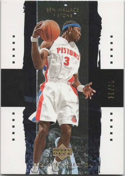 2003-04 UD EXQUISITE COLLECTION GOLD #9 BEN WALLACE 16/25