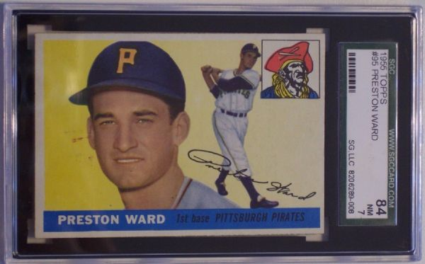 1955 TOPPS #95 PRESTON WARD SGC 84