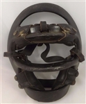 VINTAGE 1950S CATCHERS UMPIRE BASEBALL MASK STEEL & LEATHER! BRAND ARTRA 800-B
