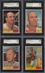 1961 TOPPS LOT OF 8 NO DUPLICATES ALL SGC 8