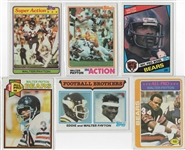 -- WALTER PAYTON , VINTAGE LOT OF (6) DIFFERENT CHICAGO BEARS TOPPS FOOTBALL CARDS!