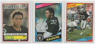 --1983 MARCUS ALLEN TOPPS RC PLUS 2 1984 TOPPS FOOTBALL CARDS OF ALLEN