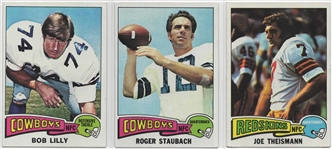 --1975 TOPPS FOOTBALL GREATS,STAUBACH,LILLY,THEISMAN...BEAUTIFUL CARDS!!!