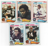 "--1982 TOPPS FOOTBALL LOT OF (5) "" ALL-PRO "" TAYLOR,MUNOZ PLUS (3) MORE STARS."