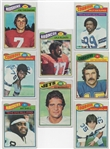 --1977 TOPPS FOOTBALL LOT OF (8) STARS & HOFS ,THEISMAN,MARTIN,SHELL AND MORE!