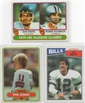 --LOT OF  (3) TOPPS QUARTERBACKS -SIMMS, KELLY, FOUTS/ STAUBACH. YEARS 80 & 87