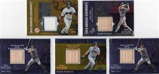--2002 TOPPS GOLD LABEL BASEBALL G/U BATS & G/W JERSEY PLATINUM,GOLD CARDS!