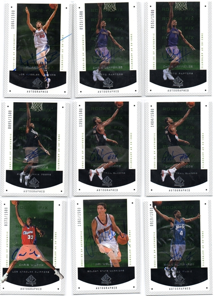 ---2002-03 UD SP AUTHENTIC ROOKIE FX LOT OF (25) #ED /1500 PLUS AUTOGRAPHS!