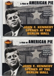 "JOHN F. KENNEDY 2001 TOPPS ""AMERICAN PIE PIECE"" OF THE BERLIN WALL CARD -PAPM2"