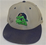 AARON HICKS GAME USED & SIGNED BELOIT SNAPPER BASEBALL CAP