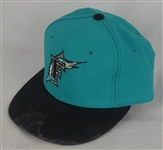 GARY SHEFFIELD 1994 FLORIDA MARLINS GAME USED HAT W/ LOA
