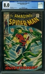 1969 THE AMAZING SPIDER-MAN #71 BLACK COVER! CGC 8.0