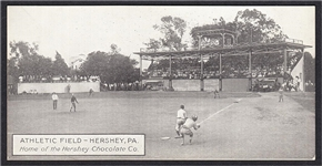 CIRCA 1910S HERSHEY CHOCOLATE CO. ATHLETIC FIELD POSTCARD