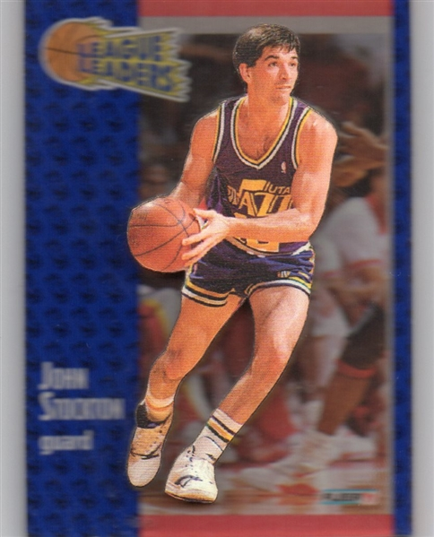 --- JOHN STOCKTON 91-92  Fleer #221 3D ACRYLIC MAIL-IN REDEMPTION SSP !