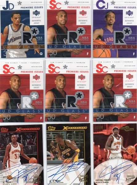 --LOT OF (18) BASKETBALL AUTO'S & JERSEY'S OF ROOKIES & STARS