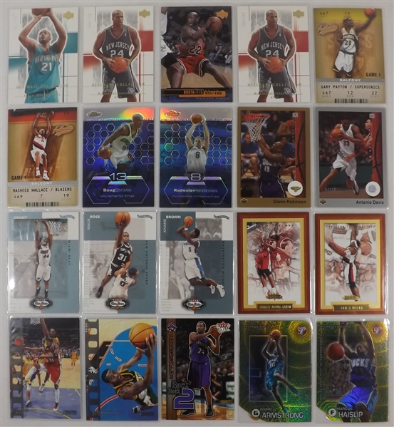 --SUPER LOT OF (52) BASKETBALL STARS ,ALL NUMBERED CARDS--