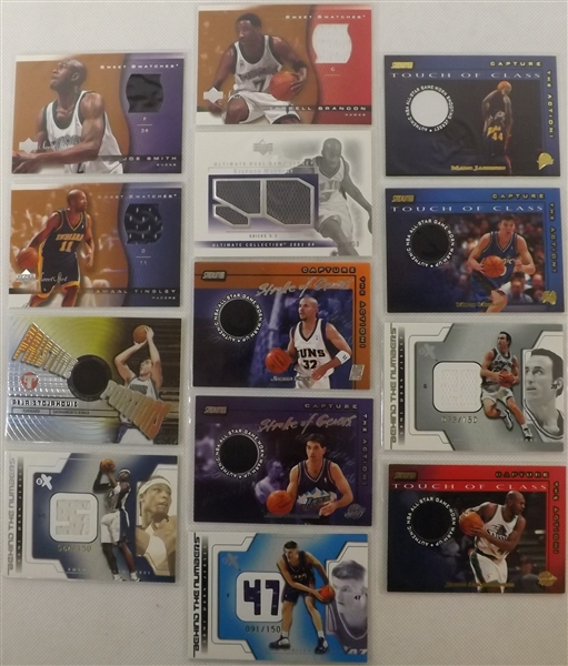 --LOT OF (39)  BASKETBALL STARS, ALL  CARDS CONTAIN G/W JERSEYS