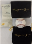 BOB FELLER SIGNED & INSCRIBED LOT OF 2 OML BASEBALLS REGGIE JACKSON COAS