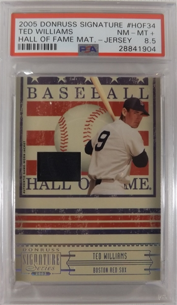 ---2005 DONRUSS SIGNATURE SERIES TED WILLIAMS HALL OF FAME GAME USED RELIC #HOF-34
