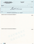 TED WILLIAMS FAMILY ENTERPRISES UNUSED CHECK