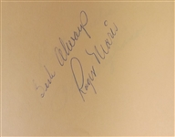 MULTI SIGNED 1967 WS CHAMPS CARDINALS AUTOGRAPH BOOK W/ ROGER MARIS JSA FULL LOA