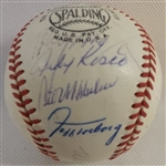 -1969 LA DODGERS TEAM SIGNED BASEBALL (20) SIGNATURES WITH HOFS