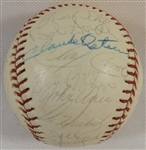 -1977 ST. LOUIS CARDINALS  SIGNED BASEBALL (23) SIGNATURES, HOFS & ALL-STARS