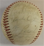 -1968 LA DODGERS TEAM SIGNED ONL BASEBALL (24) AUTOS SANDY KOUFAX & MORE