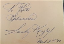 ---VINTAGE AUTOGRAPH BOOK FILLED WITH HOFS KOUFAX ROBINSON GIBSON SUTTON BROCK & MORE