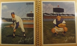 - PHOTO ALBUM FILLED WITH (18) AUTOGRAPHS OF BASEBALL HOFS & STARS KOUFAX DRYSDALE GIBSON SUTTON