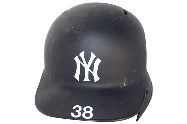 NEW YORK YANKEES GAME USED BATTING HELMET #38 SHANE ROBINSON MLB HOLO STEINER