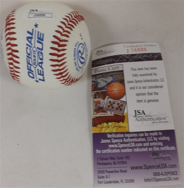 MIKE MATHENY SIGNED & INSCRIBED OL BASEBALL JSA COA