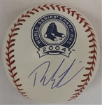 THEO EPSTEIN SIGNED 04 RED SOX WORLD SERIES CHAMPS OML BASEBALL JSA