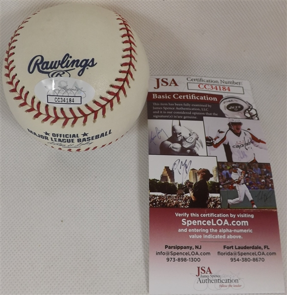 THEO EPSTEIN SIGNED '04 RED SOX WORLD SERIES CHAMPS OML BASEBALL JSA