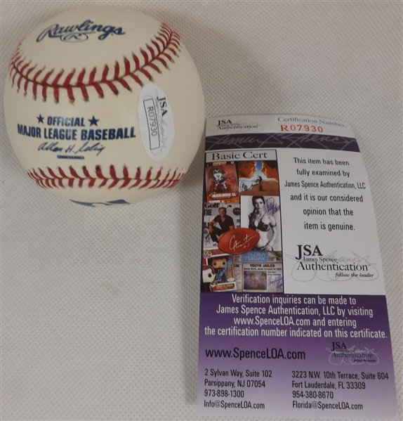 EDGAR MARTINEZ LOT OF 3 SIGNED OML BASEBALLS 2019 HOF ALL JSA COA'S
