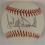 JACK McDOWELL SIGNED SWEET SPOT OAL BOBBY BROWN BASEBALL