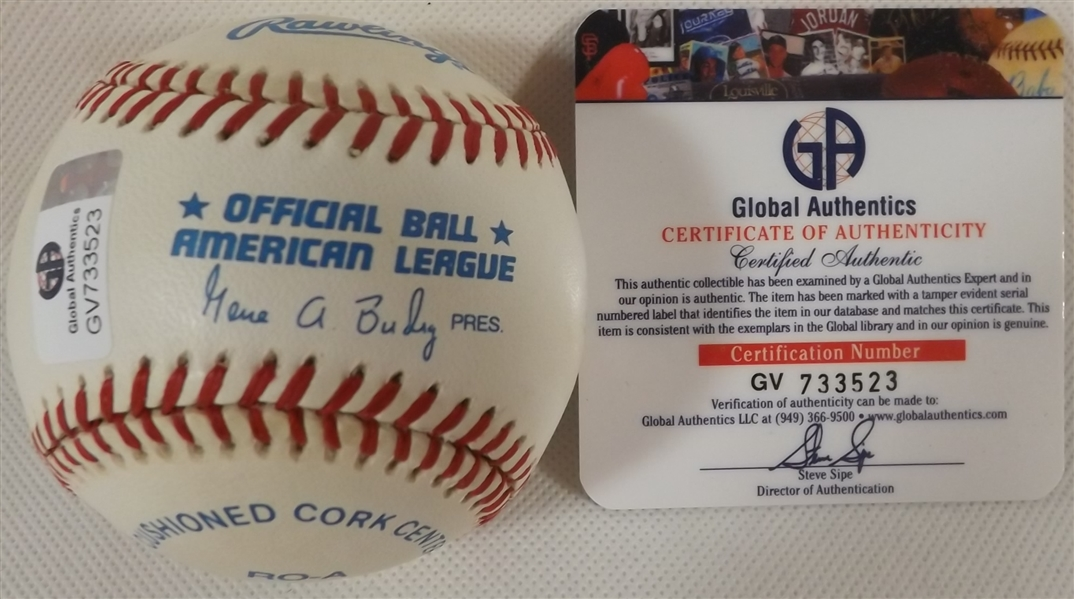FRANK ROBINSON SIGNED OAL BASEBALL HALL OF FAME (D.2019) COA