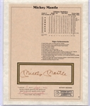 * MICKEY MANTLE SIGNED STAT SHEET LARGE BOLD GOLD SIGNATURE!