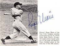 ROGER MARIS SIGNED MAGAZINE CUT OUT