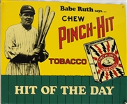 BABE RUTH 1991 PITCH-HIT TOBACCO EARLY 1900S DESIGN TIN DISPLAY