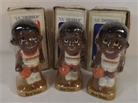 -- (3) BASKETBALL 1969 NEW YORK KNICKS LILDRIBBLER  FIGURE, MINT SEALED W/BOX